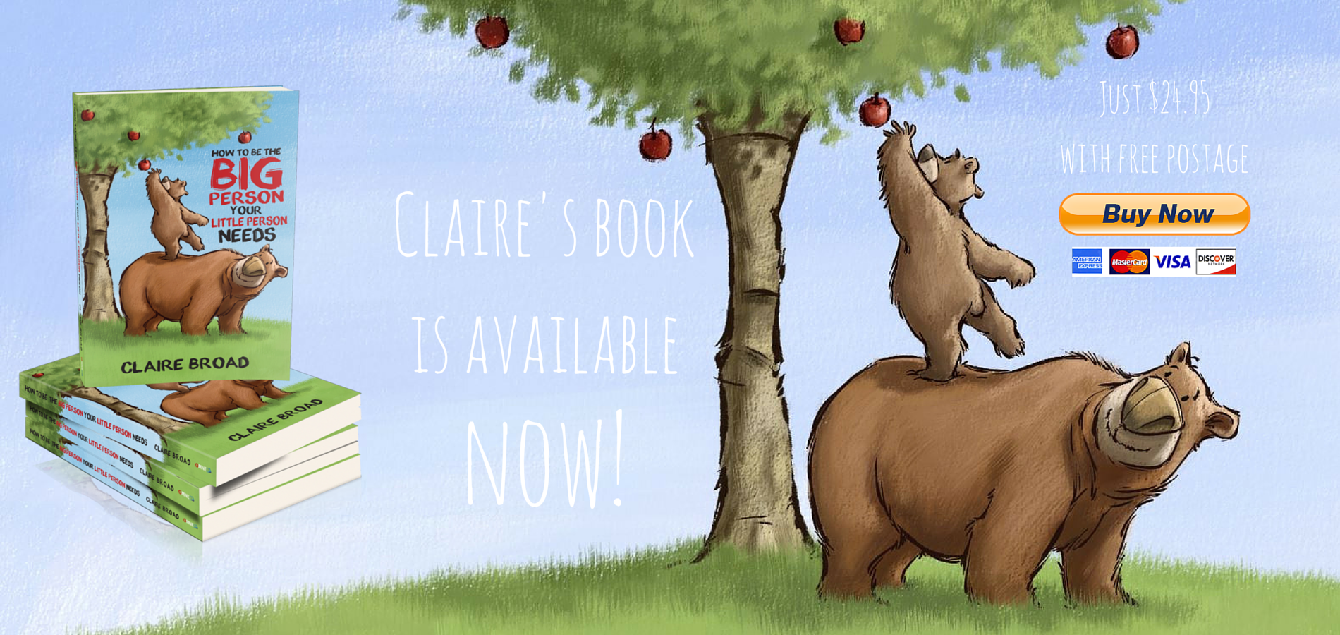 Claire's book is available now!